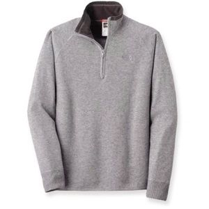 North Face Mt. Tam wool 1/4 zip sweater gray size XL #AFGF